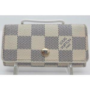 Louis Vuitton Monogram Damier Azure 4 Key Wallet